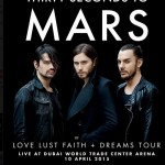 Thirty Seconds to Mars in Dubai 2015