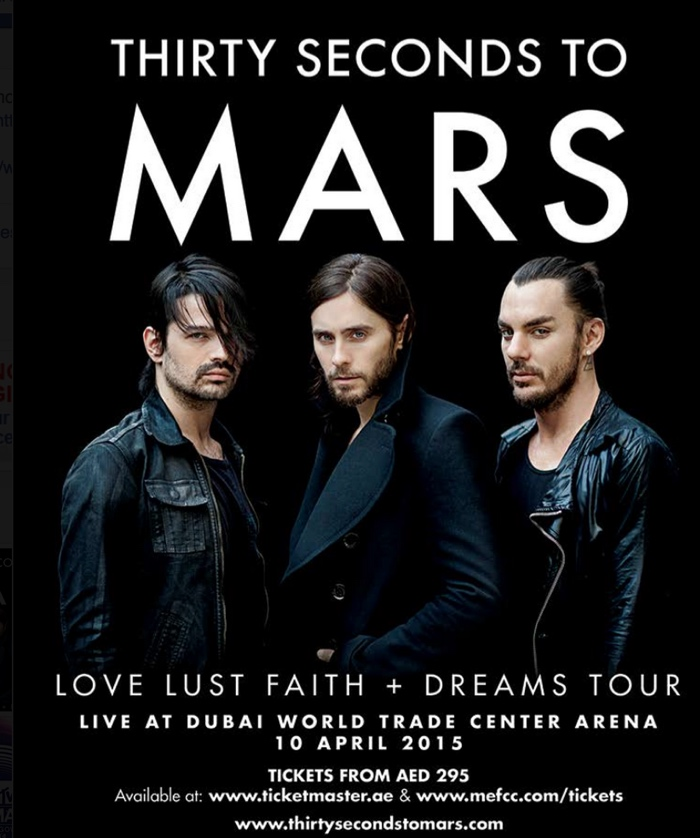 Thirty Seconds to Mars in Dubai