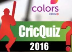 Colors Cric Quiz 2016 – TV show in Dubai, UAE.