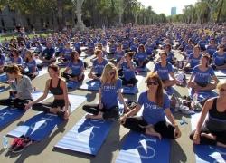 Oysho Yoga day in Dubai 2014