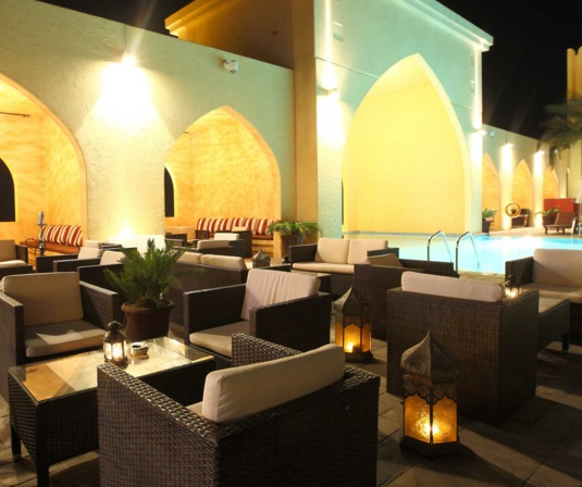 Tilal Liwa Hotel Review - Candle Light Dinner
