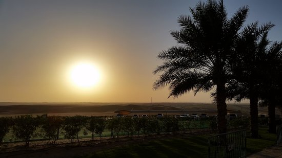 Tilal Liwa Hotel Review - Balcony Sunset View