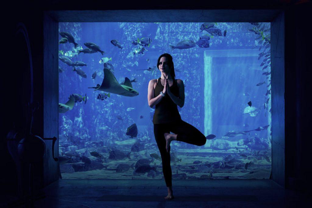 Underwater Yoga at The Lost Chambers Aquarium