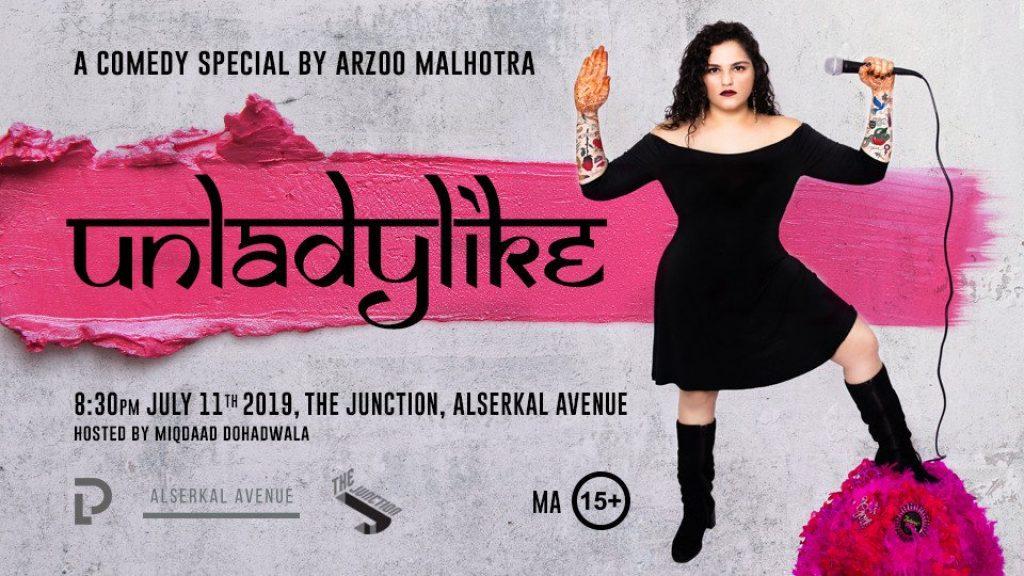 """Unladylike"" by Arzoo Malhotra-Comedy Show in Dubai"