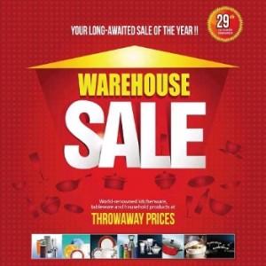 A A Sons kitchenware - Warehouse sale in Dubai 2014