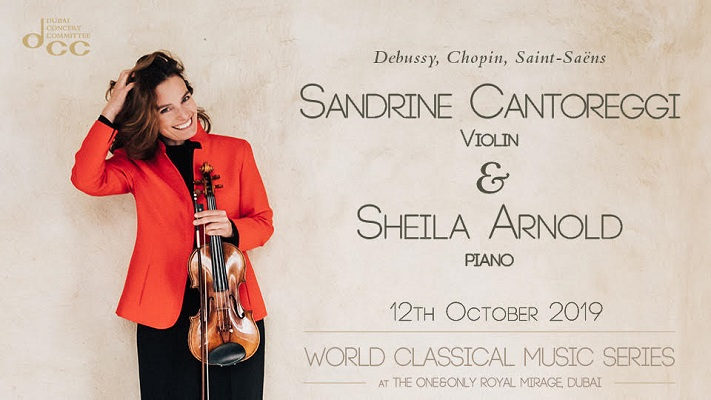 World Classical Music Series Presents Sandrine Catoreggi on 12th Oct at One&Only Royal Mirage Dubai
