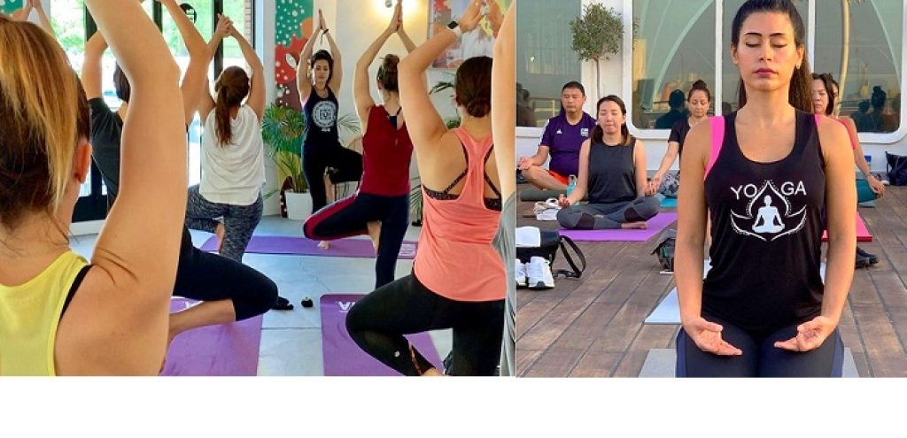 Yoga at Dubai Festival Plaza