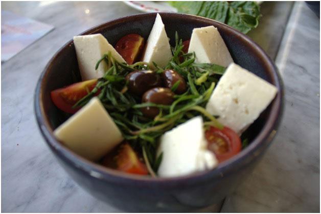 Zaatar and Baladi Cheese salad.