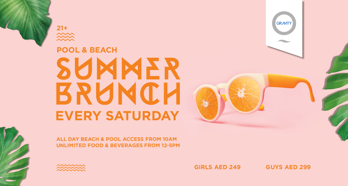 Zero Gravity's Summer Brunch Dubai 2019